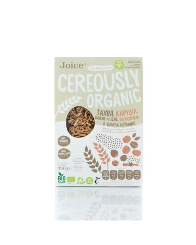 "Cereously Healthy Cereals with Whole Grain Tahini, Cinnamon and Hazelnuts "" Joice"" 350gr"
