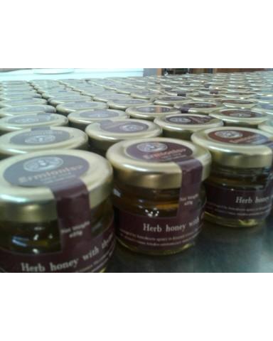 """Μέλι αρωματικών φυτών με θυμάρι """"Ermionis"""" 25gr"""