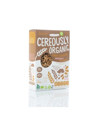 "Organic Cereals with Black Chocolate, Almonds & Cranberries "" Joice"" 350gr"