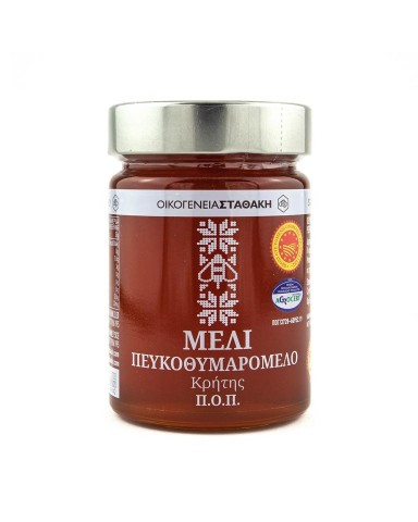 "Cretan  Honey PEFKOTHUMAROMERO  PDO,  ""Stathakis Family"" 450gr"