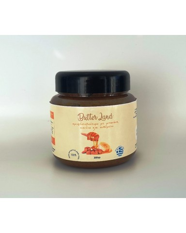 "Almond butter with banana, cinnamon and flower honey ""Butter Land"" 250gr"